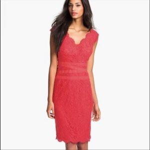 Tadashi Shoji lace v-neck dress - 6
